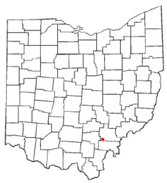 Albany, Ohio - Image: OH Map doton Albany