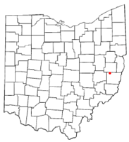Location of Holloway, Ohio