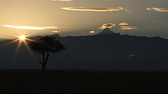 Ol Pejeta Conservancy - A view of Mt. Kenya from Ol Pejeta Conservancy Photo:Michael Dalton-Smith