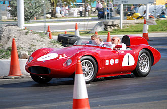 Morelli (company) - Sir Stirling Moss demonstrating his OSCA FS 372 Spider Morelli at the 2011 Bahamas Speed Week