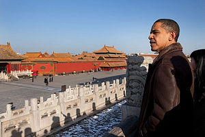 Obama in Beijing Imperial Palace