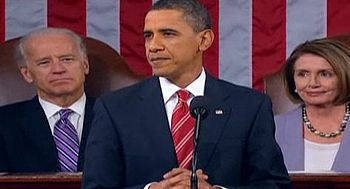 English: President Obama just about to deliver...