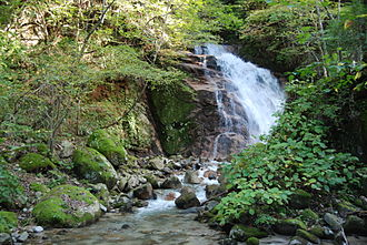 Nakasendō - Odaki waterfall west of Tsumago-juku