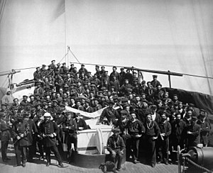 Battle of Ganghwa - Image: Officers & crew of USS Monocacy 1871 06