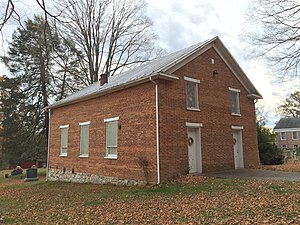 Hebron Church (Intermont, West Virginia) - Northwestern and northeastern elevations of the church