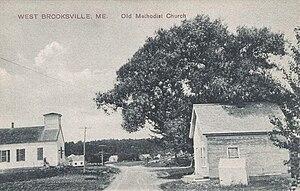 Brooksville, Maine - Image: Old Methodist Church, West Brooksville, ME