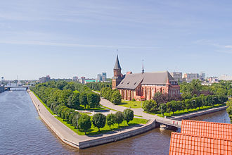 Kaliningrad - Kneiphof island with cathedral