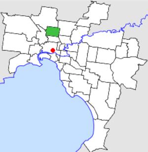 City of Coburg - Location in Melbourne