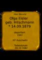 Olga Eisler, Stolperstein.png