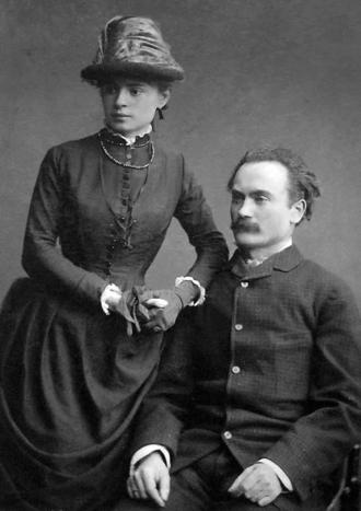 Ivan Franko - Franko with his wife Olha Khoruzhynska in 1886