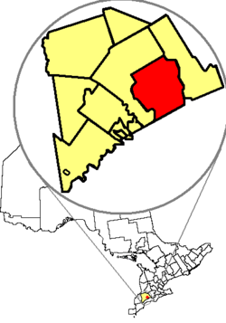 Location of London in relation to Middlesex County and the Province of Ontario