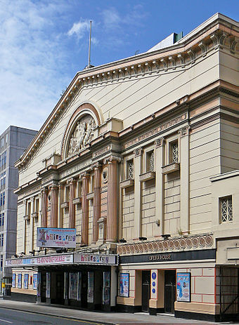 The Opera House, one of Manchester's largest theatre venues Opera House (Manchester).jpg