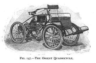 Quadricycle small motorized four wheeled vehicle