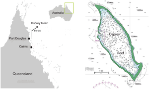 Osprey Reef - Image: Osprey Reef map