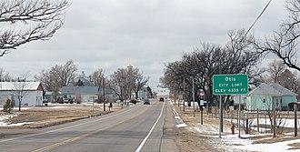 Otis, Colorado - Entering Otis from the east.