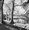 overzicht vijver in de tuin met klooster op de achtergrond - sint agatha - 20340956 - rce