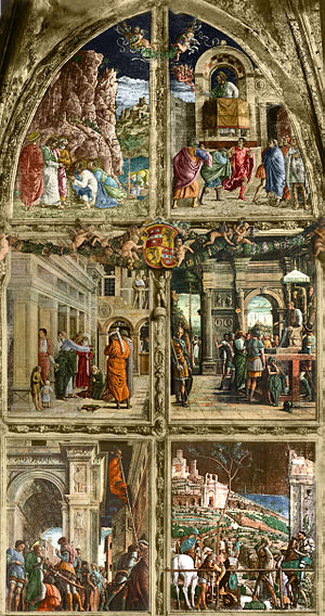 Ovetari Chapel - Stories of St. James (reconstruction from coloured black-and-white photos).