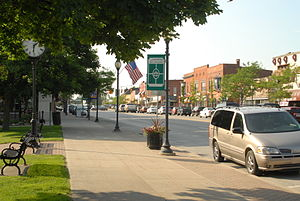 Oxford, Michigan - Washington Street on a summer day