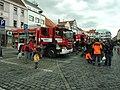 Písek, Velké Náměstí, hasiči.JPG