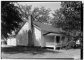 PERSPECTIVE VIEW OF NORTH (FRONT) AND EAST SIDE - Kolb House, Powder Springs Road, Kennesaw, Cobb County, GA HABS GA,34-KENN,1A-11.tif