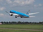 PH-BHF KLM Royal Dutch Airlines Boeing 787-9 Dreamliner takeoff from Schiphol (AMS - EHAM), The Netherlands pic.JPG