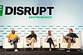 Paga Founder and CEO Tayo Oviosu, Cellulant Co-founder and CEO Ken Njoroge, Helios Investment Partners Vice President Fope Adelowo, and moderator Jake Bright at TechCrunch Disrupt SF.jpg
