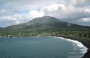 Pagan (island) - Mount Pagan, the most active of the two stratovolcanoes on Pagan Island in 1983