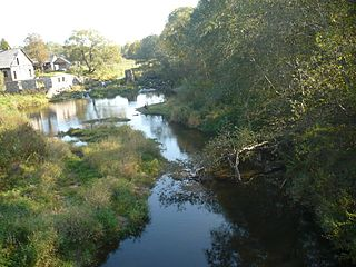Remains of the Pagraumene watermill dam. Photo:Lamata at lt.wikipedia