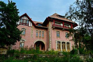 Dărmănești Town in Bacău, Romania