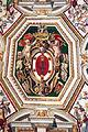 Palazzo colonna, appartamento della principessa isabelle, sala dell'alcova, affreschi di cristoforo pomarancio e scuola 00 stemma colonna.JPG