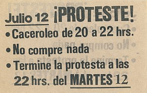 Neoliberalism - Image: Panfleto Tercera Jornada Protesta Nacional