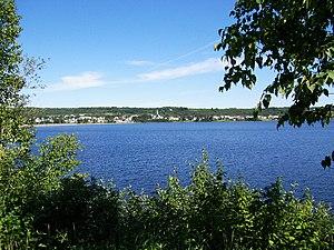Lac-Bouchette, Quebec - Image: Panorama village Lac Bouchette