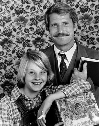 Jodie Foster - Foster with Christopher Connelly in a publicity photo for Paper Moon (1974), in which she had one of the first starring roles of her career