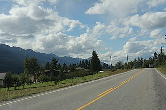 Parson, British Columbia - Some buildings in Parson on BC Highway 95