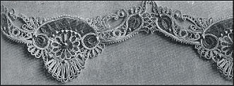 Passementerie - Passementerie of cording and braid, embellished with beads, French, 1908.
