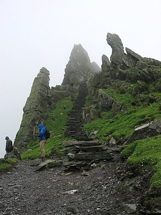 Skellig Michael - Path to Christ's Saddle