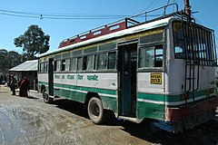 Ordinary-class Himachal Road Transport Co bus, Dharamsala