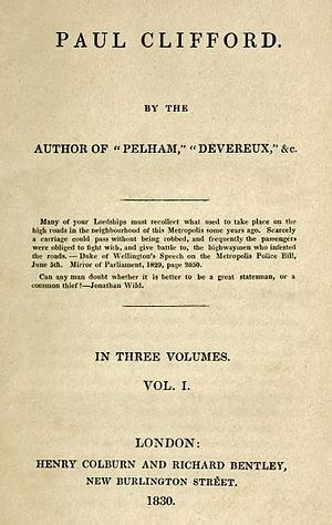 Paul Clifford - First edition title page