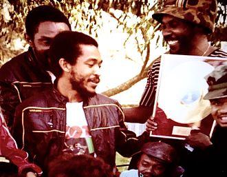Paul Douglas (musician) - Paul Douglas accepting gold plaque in Australia 1982
