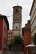 Pauls church tower in Erfurt, Germany.