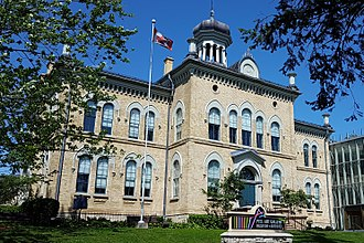 Brampton - One of the PAMA buildings, formerly the Peel County Court House