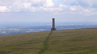 Ramsbottom - The Peel Monument looking south towards Bury