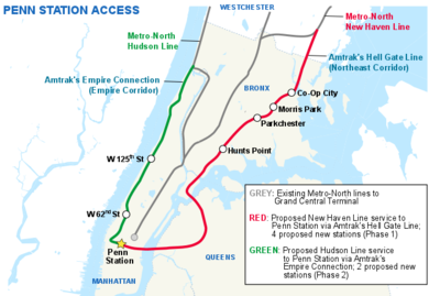 Metro North Hudson Line Map Penn Station Access   Wikipedia