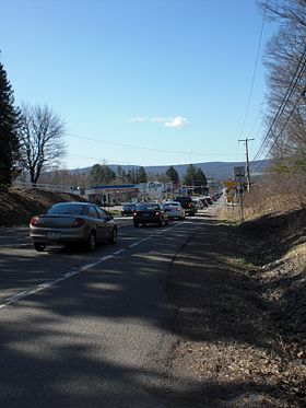 Pennsylvania Route 93 in Conyngham during a traffic jam.JPG