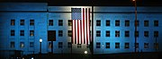 Pentagon lit up for 9/11 anniversary.