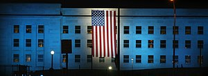Pentagon lit up for 9/11 anniversary