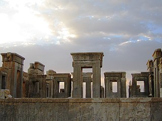 antic palace in Persepolis