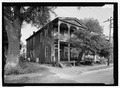 Perspective view looking to No. 20 - Florida House, 20 and 23 South Third Street, Fernandina Beach, Nassau County, FL HABS FLA,45-FERB,3-1.tif