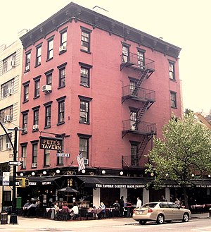 Pete's Tavern - The building which houses the tavern was built in 1829 as the Portman Hotel