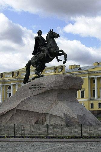 Peter the Great statue in Saint Petersburg